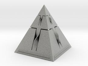 Pryamid with a Twist in Metallic Plastic