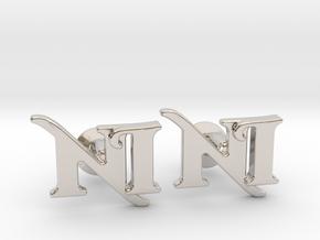 Monogram Cufflinks NI in Platinum