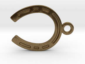 Horseshoe for luck in Natural Bronze