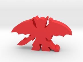 Game Piece, Demon Spread, Wings Sword in Red Processed Versatile Plastic