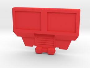 BorstPlaat 2245 in Red Processed Versatile Plastic