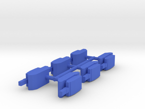Custom Order, 6-set M1a1 Tank, 19mm in Blue Processed Versatile Plastic