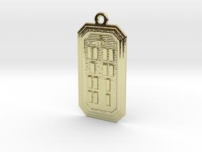OJUANIBOKA in 18k Gold Plated Brass