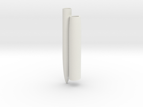 Finger Cap Toothbrush Holder in White Natural Versatile Plastic