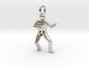 Pendant - Double Knifehand in Platinum