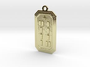 OGUNDAMASA in 18k Gold Plated Brass