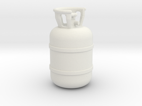 1/20 Scale propane tank in White Natural Versatile Plastic