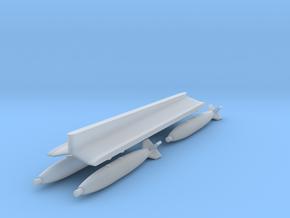 Mirage F1 Centerline MER + 4xMk82 Bombs (1/72) in Smooth Fine Detail Plastic