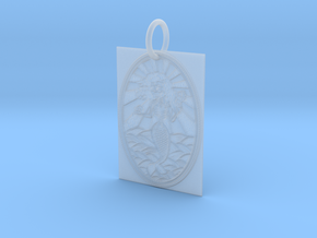 Dead Mermaid Keychain in Smooth Fine Detail Plastic