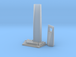 Shanghai World Financial Centre (1:2000) in Smooth Fine Detail Plastic