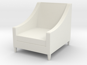 1:24 Armchair in White Natural Versatile Plastic
