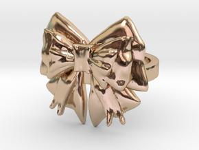 Kimono Ring sz7 in 14k Rose Gold Plated Brass