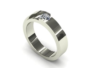 Cut Engagement Ring in Smooth Fine Detail Plastic