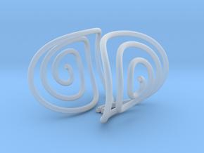 Spiral Torision Spring Inspired Bracelet in Smooth Fine Detail Plastic