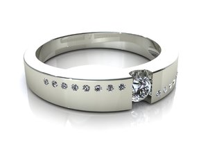 Wedding Engagement Ring C2 in Frosted Ultra Detail