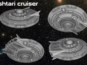 Ishtari Attack Cruiser in White Natural Versatile Plastic