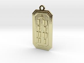 OFUNBIROSO in 18k Gold Plated Brass
