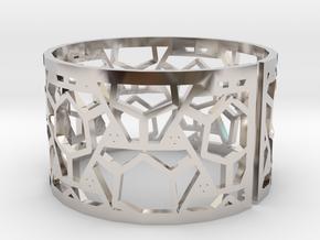 Bracelet AQ (2) in Rhodium Plated Brass