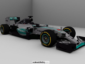 Mercedes AMG W06 Scale 1/8 in White Strong & Flexible