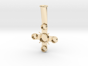 "Plume Holder ""Christopho"" in 14k Gold Plated Brass"