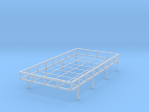 1:35th Land Rover roof rack in Smooth Fine Detail Plastic