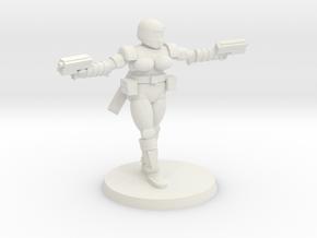 36mm Female Combat Armor 5 in White Natural Versatile Plastic
