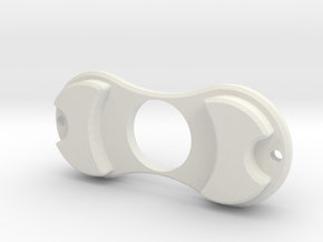 Mock Torquebar Spinner in White Natural Versatile Plastic