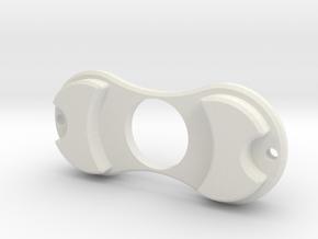 Mock Torquebar Spinner in White Natural Versatile Plastic