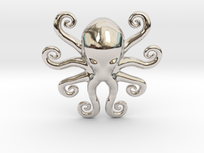 Cthulhu Dreaming in Rhodium Plated Brass