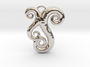 Sea Swirls in Rhodium Plated Brass