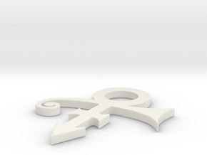 Prince Logo in White Natural Versatile Plastic: Small