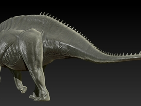 1/40 Amargasaurus - Walking in White Natural Versatile Plastic