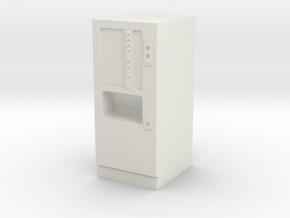 Coffee vending machine / Kaffeeautomat in White Strong & Flexible: 1:87 - HO
