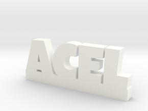 ACEL Lucky in White Processed Versatile Plastic