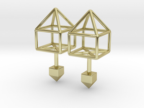 House Cufflinks in 18k Gold Plated Brass