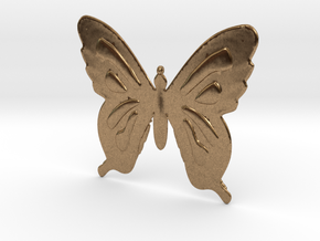 Butterfly Necklace in Natural Brass