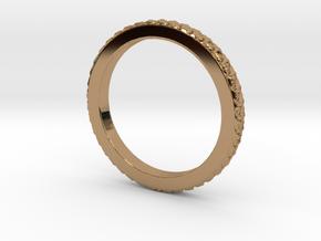 Braided Ring Sizes 4 thru 13 in Polished Brass: 9 / 59