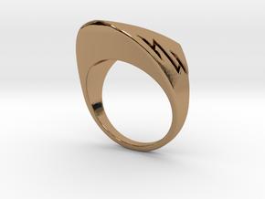 Speedy Ring S B in Polished Brass: 3 / 44