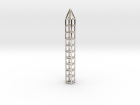 Pen Pendant CC in Platinum