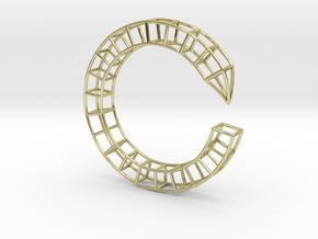 Pen Bracelet Medium Size in 18k Gold Plated Brass: Medium