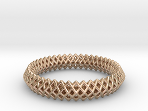 Bracelet TT (2) in 14k Rose Gold Plated Brass