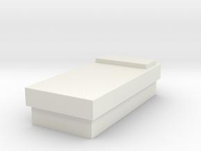 Kirk's Bunk (Star Trek Classic), 1/9 in White Natural Versatile Plastic