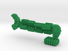 """Space Freighter """"Helicial"""" (OEM Class) in Green Strong & Flexible Polished"""