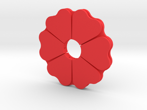 Poppy Spinner in Red Processed Versatile Plastic