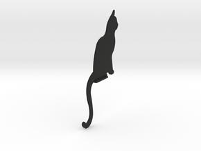 Door Cat in Black Natural Versatile Plastic