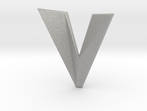Distorted letter V in Aluminum