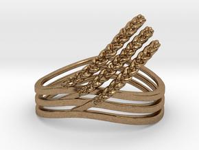 Rye Ring in Natural Brass