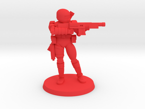 Female Combat Armour  in Red Processed Versatile Plastic