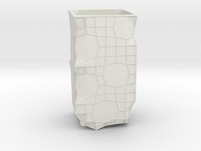 Organic Vase in White Natural Versatile Plastic: 1:8