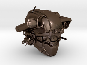 Halo 5 Argus/linda helmet mcfarlane scale in Polished Bronze Steel